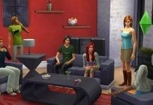 Einblick ins Wohnzimmer