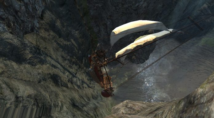 Schiff segelt in ArcheAge Wasserfall rauf Screenshot #1