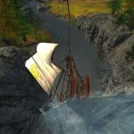 Schiff segelt in ArcheAge Wasserfall rauf Screenshot #15