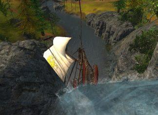 Schiff segelt in ArcheAge Wasserfall rauf Screenshot #15