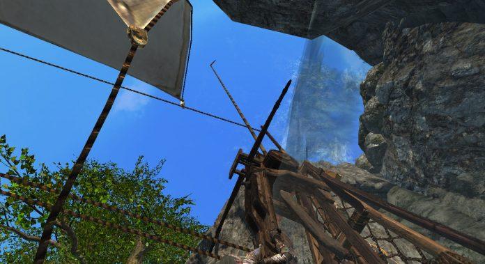 Schiff segelt in ArcheAge Wasserfall rauf Screenshot #8
