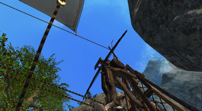 Schiff segelt in ArcheAge Wasserfall rauf Screenshot #9
