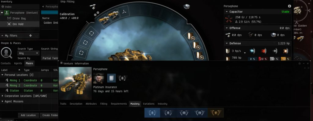 Überladener EVE Online Screen