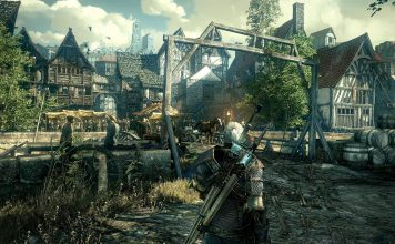 The Witcher 3 Stadt InGame Grafik