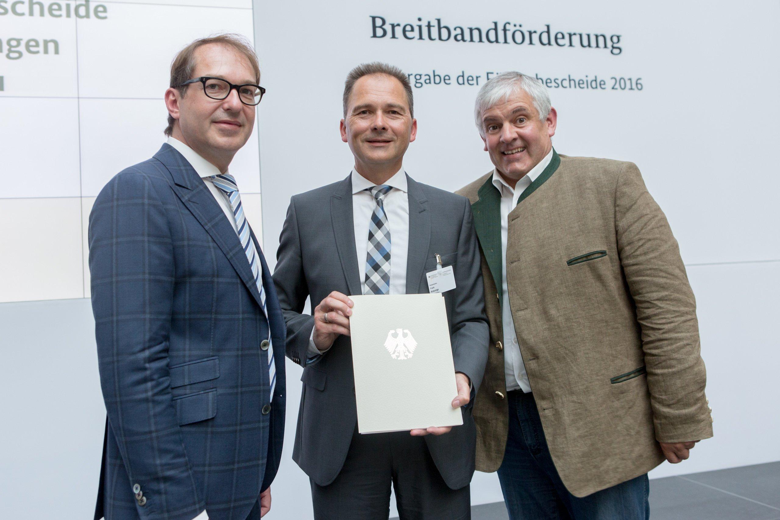 BM Dobrindt Förderbescheide Breitbandausbau