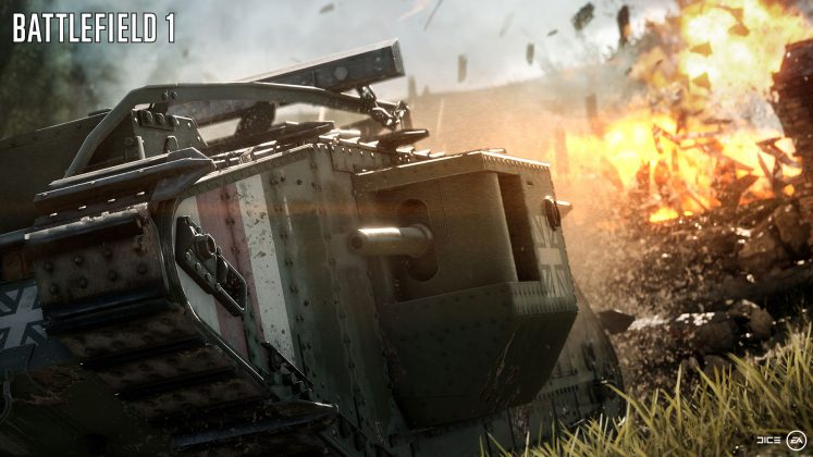 Battlefield 1 Destruction Warmachine
