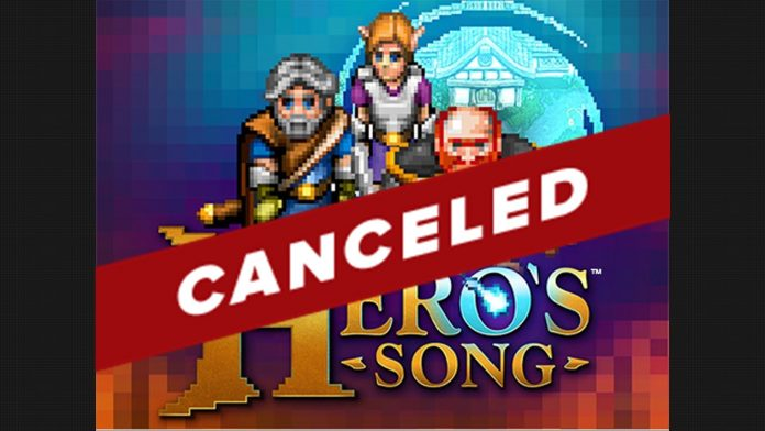 Hero's Song Canceled