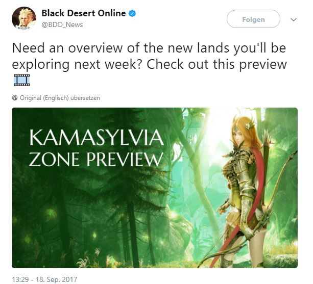 BDO_News Kamasylvia Tweet