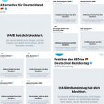 AfD verwendet Blocklisten