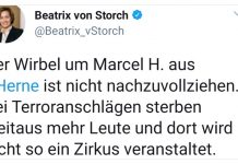 Tweet Beatrix von Storch Marcel H. Herne